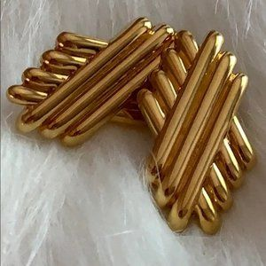 Vintage Monet Large Gold Earrings